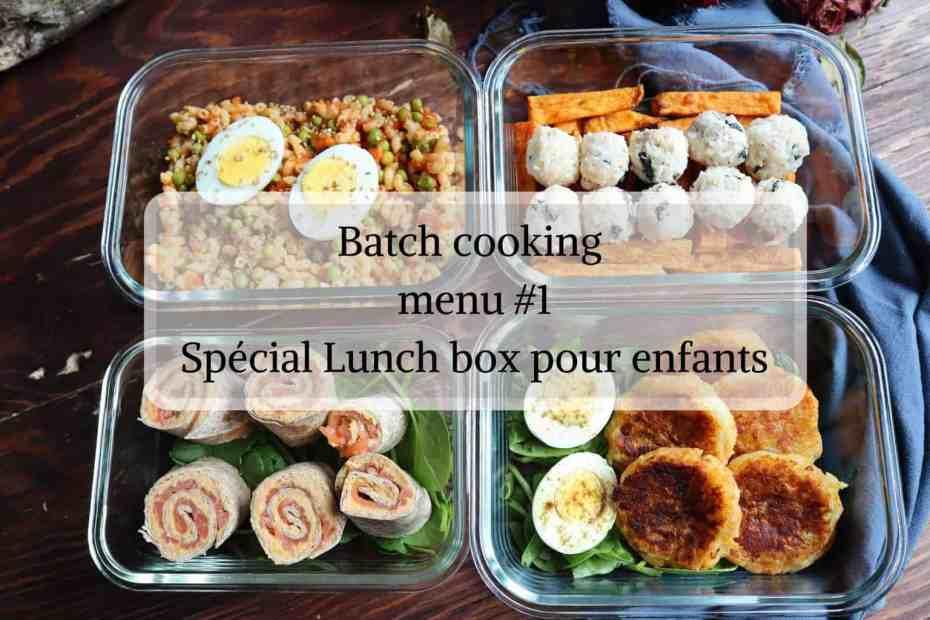Batch cooking pour enfants